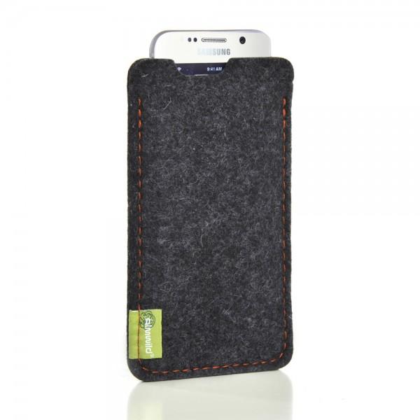 Almwild Galaxy S7 Edge - Sleeve Dezenzi, (S-S7E),Schiefergrau,Filz