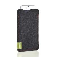 Almwild iPhone SE/8/7/6 -Hülle Dezenzi Größe L2, Schiefergrau, Filz