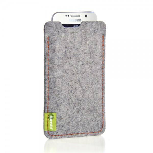 Almwild Galaxy S7 - Sleeve Dezenzi, (S-S7),Alpsteingrau,Filz