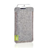 Almwild iPhone SE/8/7/6 -Hülle Dezenzi Größe L2, Alpsteingrau, Filz