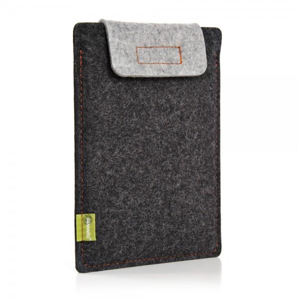 Almwild iPad Air/Pro 11 10.5 10.2 9.7 - Sleeve Schiefergrau-Alpsteingrau Schofliesl mit Verschluss