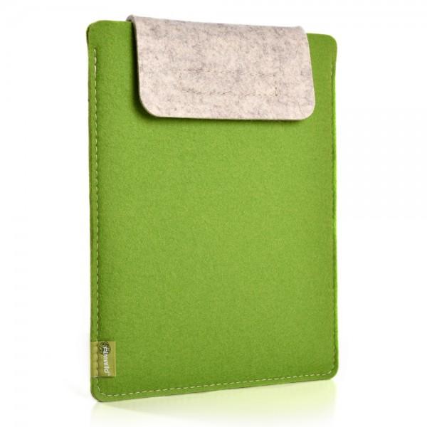 Almwild iPad Air/Pro 11 10.5 10.2 9.7 - Sleeve Maigrün-Hellmeliert Schofliesl mit Verschlusslasche