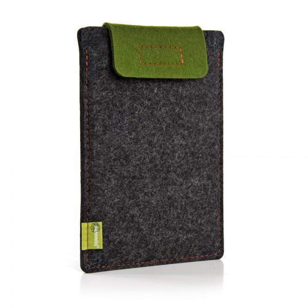 Almwild iPad Air/Pro 11 10.5 10.2 9.7 - Sleeve Schiefergrau-Moosgrün Schofliesl mit Verschlusslasch