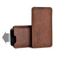 Almwild iPhone X/Xs-Hülle Sattlerschorsch, Größe L3, Braun