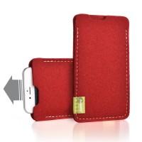 Almwild iPhone SE/8/7/6 -Hülle Dezenzi Größe L2, Rot, Filz